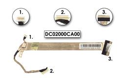 Toshiba Satellite A110 laptophoz használt kijelző kábel (DC02000CA00)