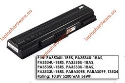 Toshiba Satellite A200, A300, L500, M200 használt helyettesítő 80%-os 6 cellás laptop akku/akkumulátor (PA3534U)