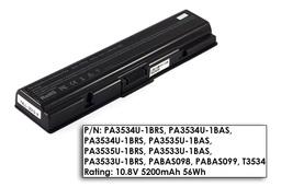Toshiba Satellite A200, A300, L500, M200 használt  70%-os 6 cellás helyettesítő laptop akku/akkumulátor (PA3534U)