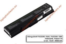 Toshiba Satellite A200, A300, L500, M200 helyettesítő használt  90%-os 6 cellás laptop akku/akkumulátor (PA3534U)