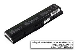 Toshiba Satellite L300D sorozat laptop akkumulátor, új, gyárival megegyező minőségű helyettesítő, 6 cellás (4400 - 5200mAh)
