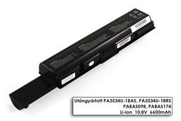 Toshiba Satellite A200, A300, L500, M200 helyettesítő új 9 cellás laptop akku/akkumulátor (PA3534U-1BAS)