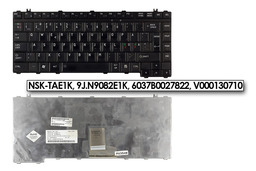 Toshiba Satellite A300, M300, L300 használt skandináv fekete laptop billentyűzet (NSK-TAE1K)