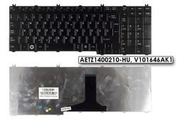 Toshiba Satellite A500, A505, L505 gyári új magyar fényes fekete laptop billentyűzet AETZ1400210-HU