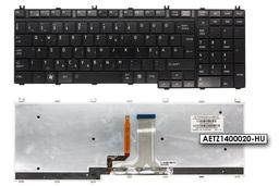 Toshiba Satellite A500, A505, L505 gyári ú fekete magyar háttér-világításos laptop billentyűzet AETZ1400020-HU