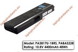 Toshiba Satellite A660, C650, L600, U400 használt gyári 6 cellás 90%-os laptop akku/akkumulátor (PA3817U-1BRS)
