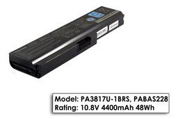 Toshiba Satellite L650 sorozat laptop akkumulátor, gyári új, 6 cellás (4200mAh)