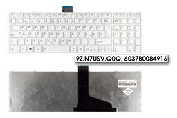 Toshiba Satellite C55 sorozatú laptophoz gyári új fehér magyar billentyűzet (9Z.N7USV.Q0Q)