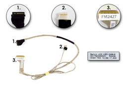 Toshiba Satellite C650, C650D, C655, C655D laptophoz gyári új LCD kijelző kábel, 6017B0265501