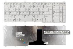 Toshiba Satellite C650, C660, L650, L750 gyári új német fehér laptop billentyűzet (V114362DK1)