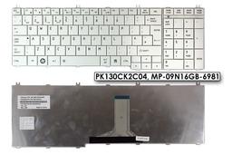 Toshiba Satellite C650, C660, L650, L750 gyári új UK angol fehér laptop billentyűzet, PK130CK2C04