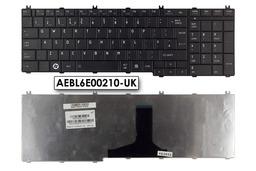 Toshiba Satellite C650, C660, L650, L750 gyári új UK angol matt fekete laptop billentyűzet, AEBL6E00210-UK