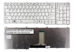 Toshiba Satellite C650, C660, L650, L750 gyári új US angol fehér laptop billentyűzet, PK130CK2C00, MP-09N13US-6981