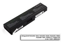Toshiba Satellite C650 sorozat laptop akkumulátor, új, gyárival megegyező minőségű helyettesítő, 6 cellás (4400mAh)