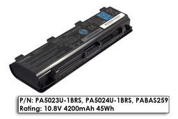 Toshiba Satellite C840, C850, C855 gyári új 6 cellás laptop akku/akkumulátor (PA5023U-1BRS, PA5024U-1BRS)