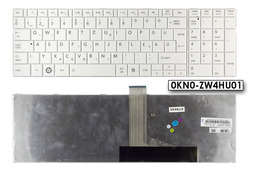 Toshiba Satellite C850, C855, C870, C875 gyári új magyar fehér laptop billentyűzet, (H000040190, 0KN0-ZW4HU01)