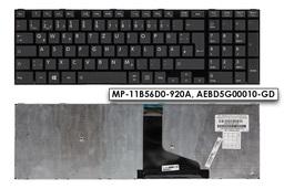 Toshiba Satellite L50-A fekete német  laptop billentyűzet