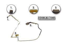 Toshiba Satellite L750 L755 használt laptop LCD kábel, DD0BLBLC040