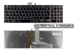Toshiba Satellite L855 szürke magyar laptop billentyűzet