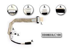 Toshiba Satellite P300, P305 gyári új LCD kijelző kábel, DD0BD3LC100