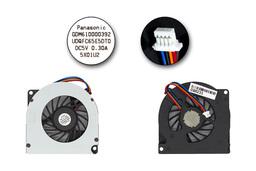 Toshiba Satellite Pro S300, Tecra A10, M10 gyári új laptop hűtő ventilátor (P000505830, UDQFC65E5DT0, GDM610000392)