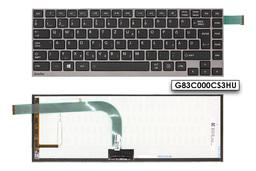 Toshiba Satellite U920T, U925T gyári új magyar háttér-világításos szürke keretes laptop billentyűzet (P000566940, N860-7837-T218)