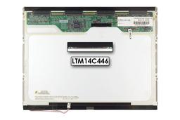 Toshiba XGA 1024x768 CCFL használt matt laptop kijelző, LTM14C446