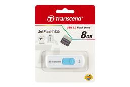 Transcend JetFlash 530 (USB 2.0) 8GB fehér pendrive (TS8GJF530)