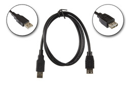 USB A apa - A anya 0.8m hosszabbító kábel, 11.02.8947BR