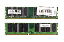 Veritech gyári új 512MB DDR 400MHz Desktop RAM (D1400L512F-MTB)