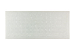 Világító billentyűzet matrica átlátszó alapon fehér betű