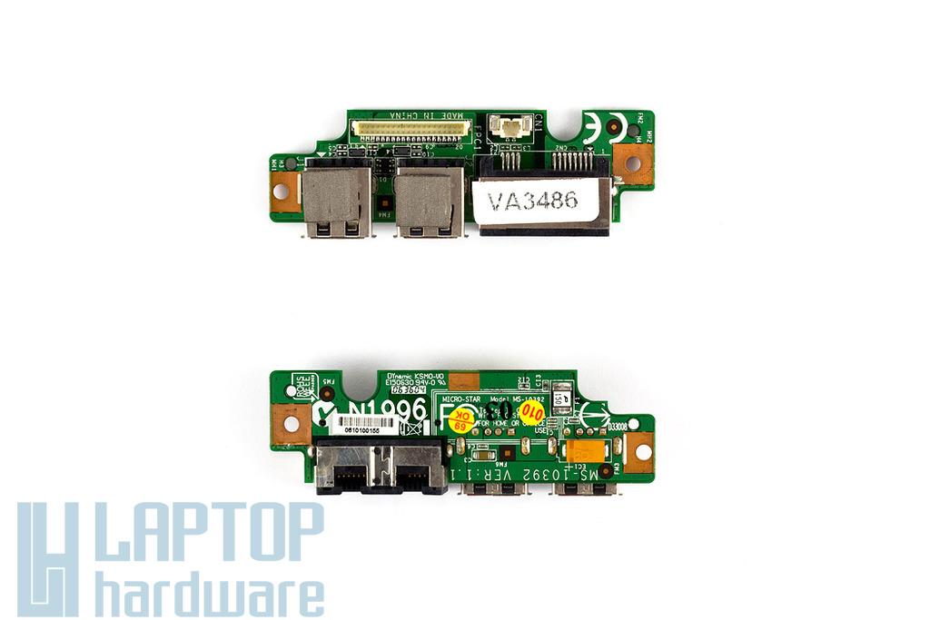 MSI 16331-M677X laptophoz használt USB-MODEM-LAN port (MS-10392)