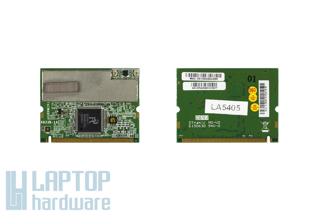MSI 6833B-1A használt Mini PCI laptop WiFi kártya