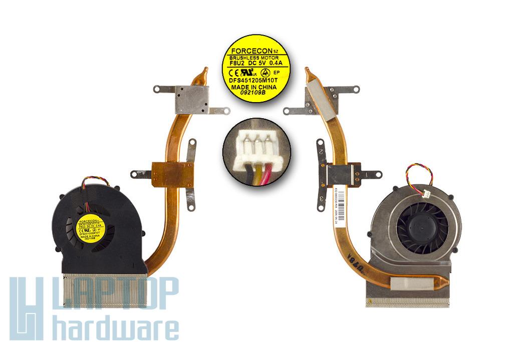 MSI CR500X, CR600 laptophoz használt komplett hűtőegység, thermal module, (E32-0800230-F05)