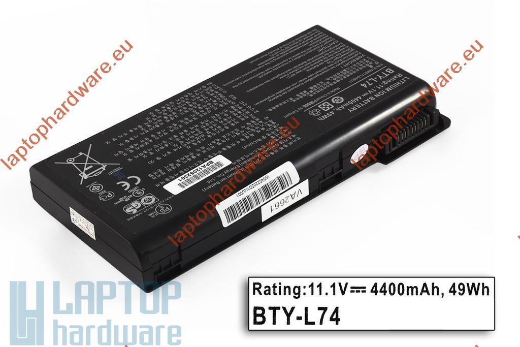 MSI CR600, CR610, CX600 használt 6 cellás laptop akku/akkumulátor (BTY-L74, BTY-L75), 25%-os