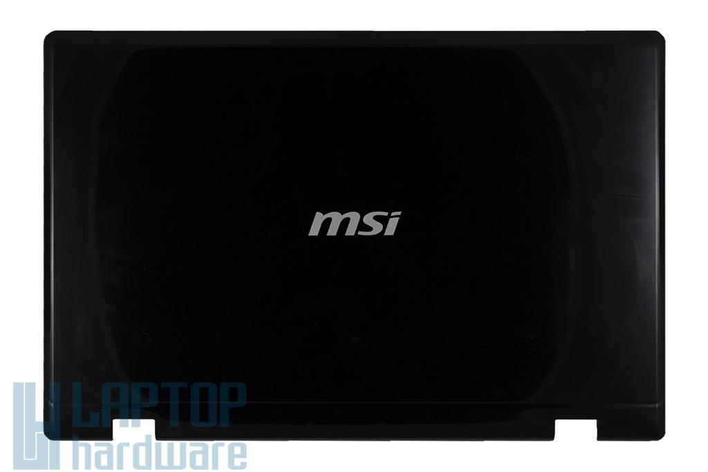 """MSI CR600, CX600, CR610X laptophoz használt """"B"""" kategóriás LCD hátlap, E2P-682A212-Y31"""