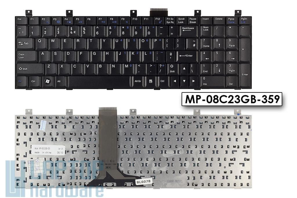 MSI CR610X, CX600, EX600, GX700, VR601, VR700 gyári új UK angol billentyűzet, MP-08C23GB-359