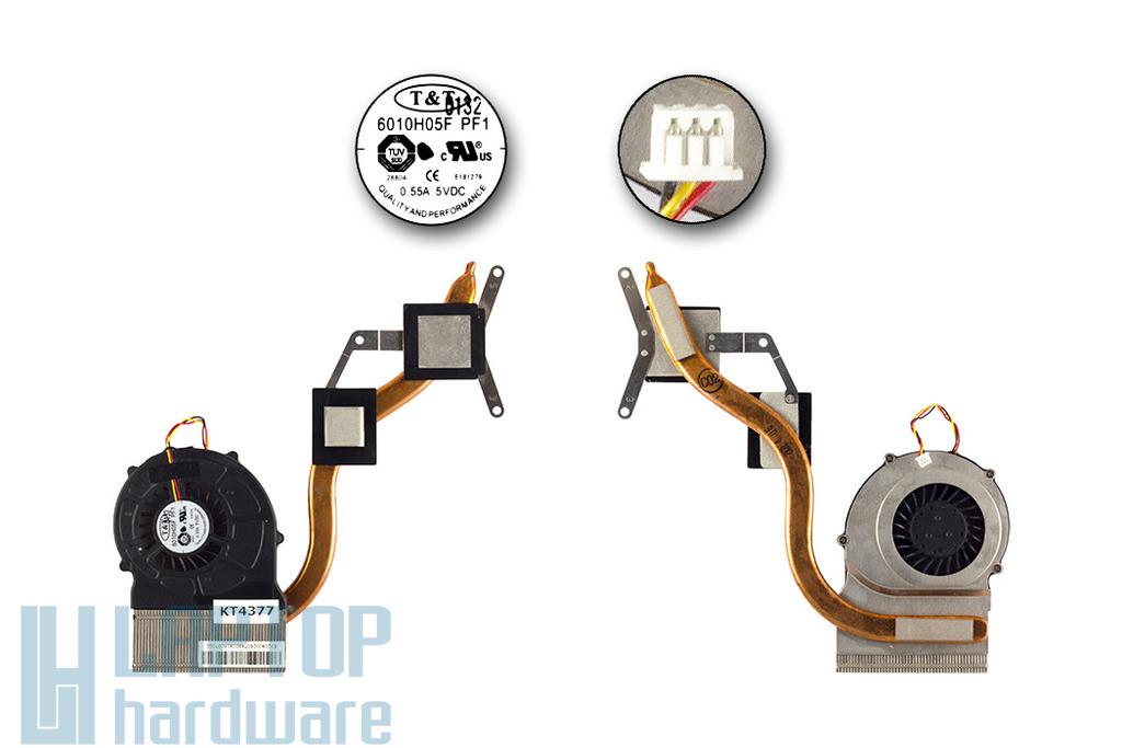 MSI CR610, CR610X, CR630 laptophoz használt komplett hűtőegység (E320800260TA)