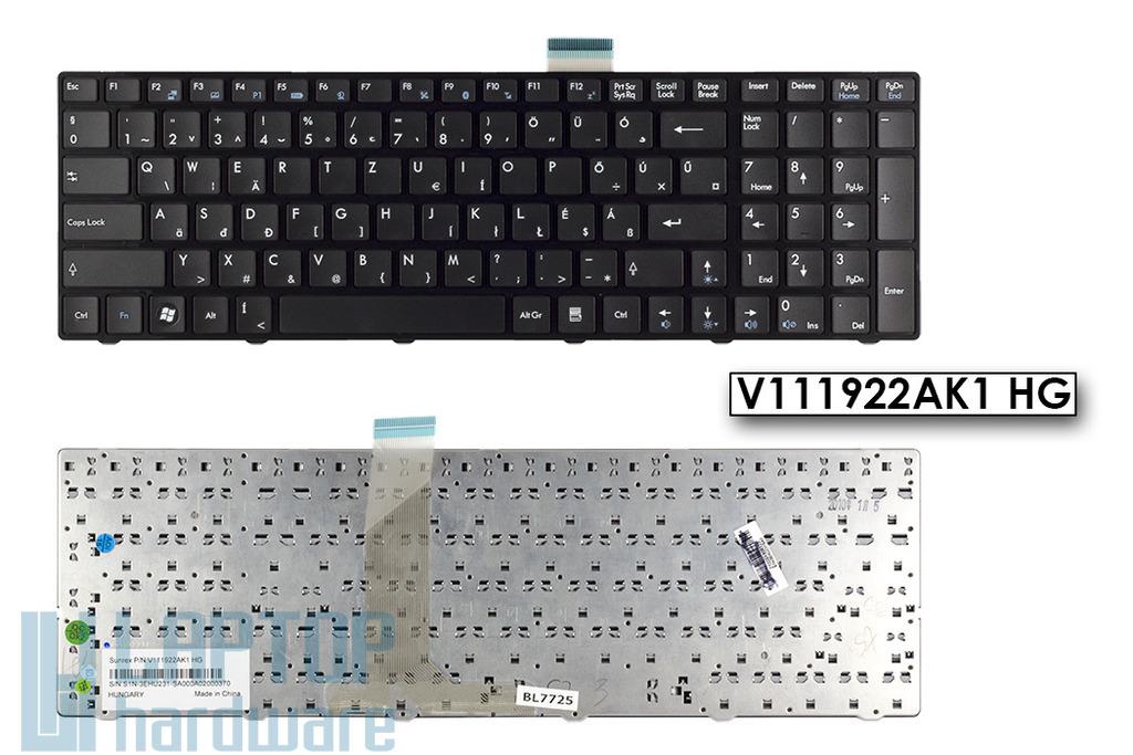 MSI CR620 gyári új fekete magyar laptop billentyűzet, V111922AK1