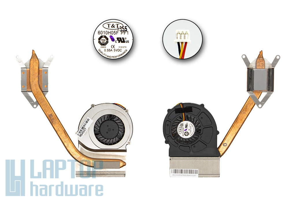MSI CR620, CX620, CX623 laptophoz gyári új komplett hűtő ventilátor (E32-0800502-TA9)