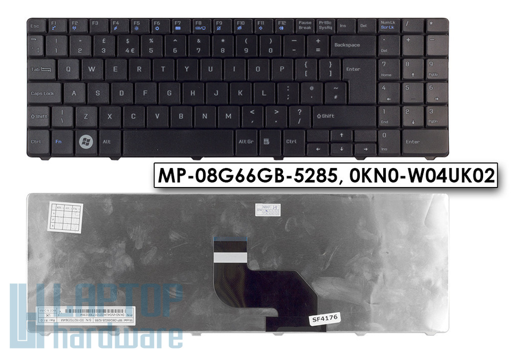 MSI CR640, CX640 gyári új angol laptop billentyűzet, MP-08G66GB-5285