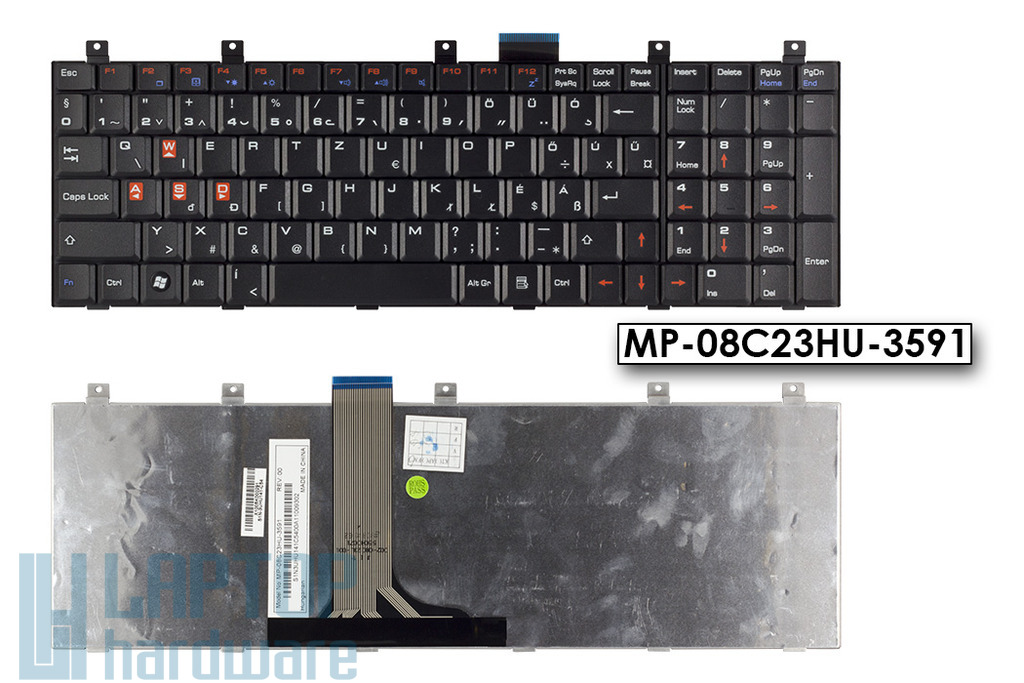 MSI CX600, CR600, GT640, gyári új magyar fekete gamer billentyűzet, MP-08C23HU-3591