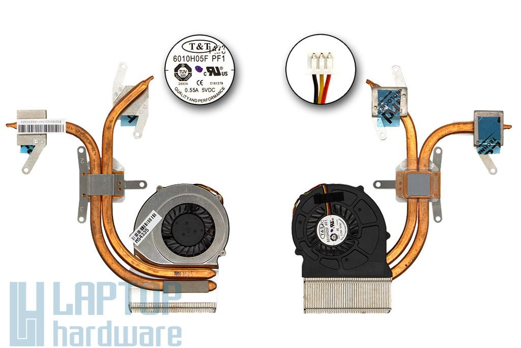 MSI CX600, CX600X gyári új komplett laptop hűtő ventilátor, E32-0800221-TA9