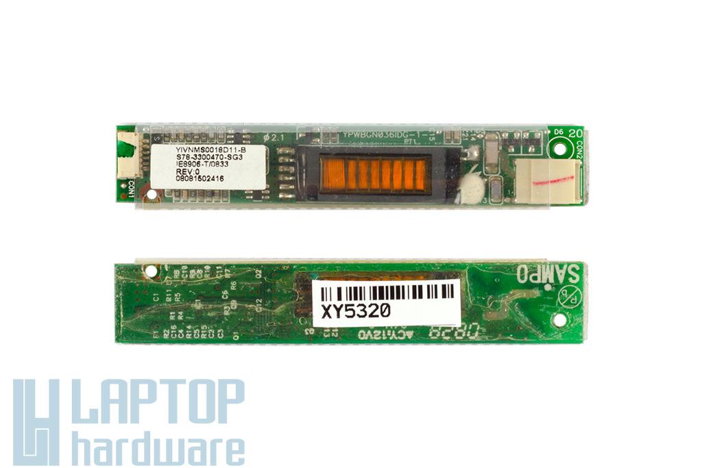 MSI CX600, EX620, EX630 laptophoz használt LCD inverter (YIVNMS0018D11-B)