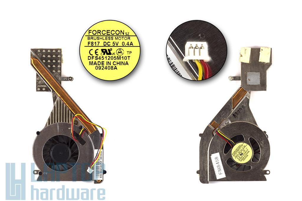 MSI EX300 laptophoz használt komplett hűtő ventilátor egység (DFS451205M10T)