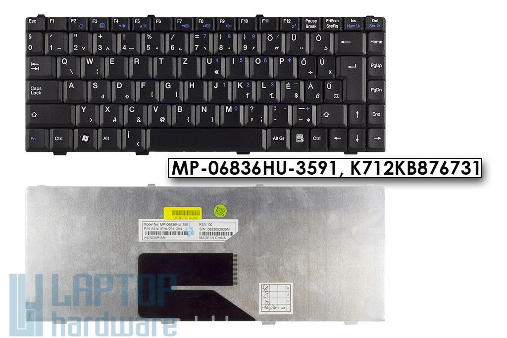 MSI EX400, GX400, S260 gyári új magyar fekete laptop billentyűzet (MP-06836HU-3591)
