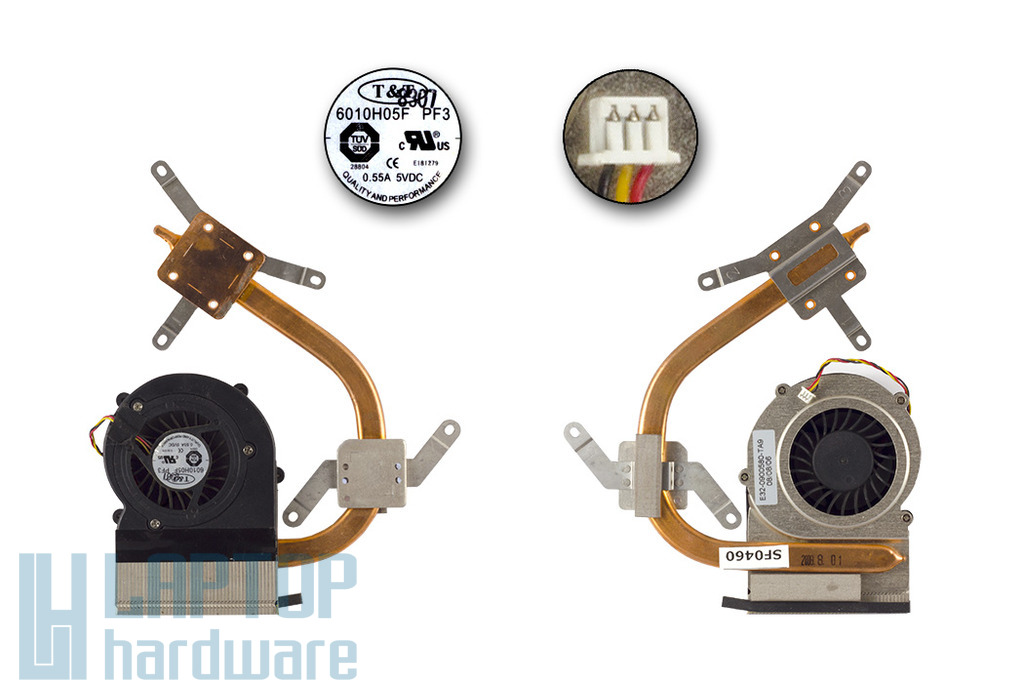 MSI EX400 használt komplett laptop hűtő ventilátor egység (E32-0900580-TA9)