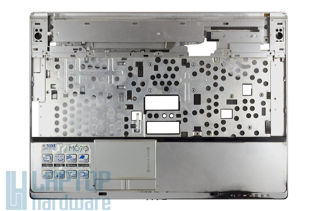MSI EX600, EX600X, M670 laptophoz használt felső fedél (AMD) toucpaddal, 307-633C515-TA2