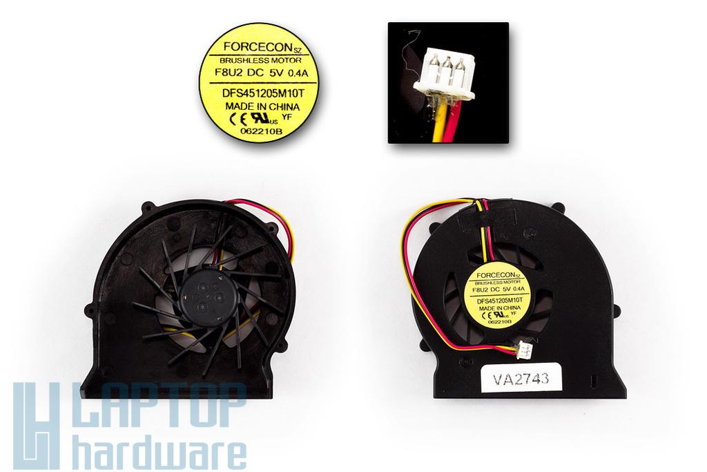 MSI EX600, VR600, EX600 gyári új laptop hűtő ventilátor (DFS451205M10T, F8U2)
