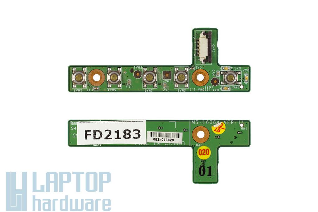 MSI EX600, VR601X laptophoz használt bekapcsoló panel (MS-1636A)